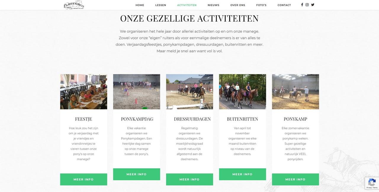Manege Pareynhof - activiteiten