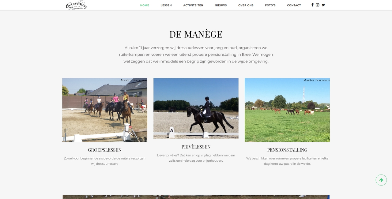 Manege Pareynhof - home