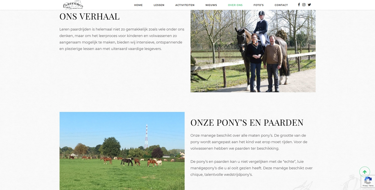Manege Pareynhof - over ons